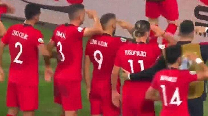 Milli takımımız Mehmetçik'e selam durdu