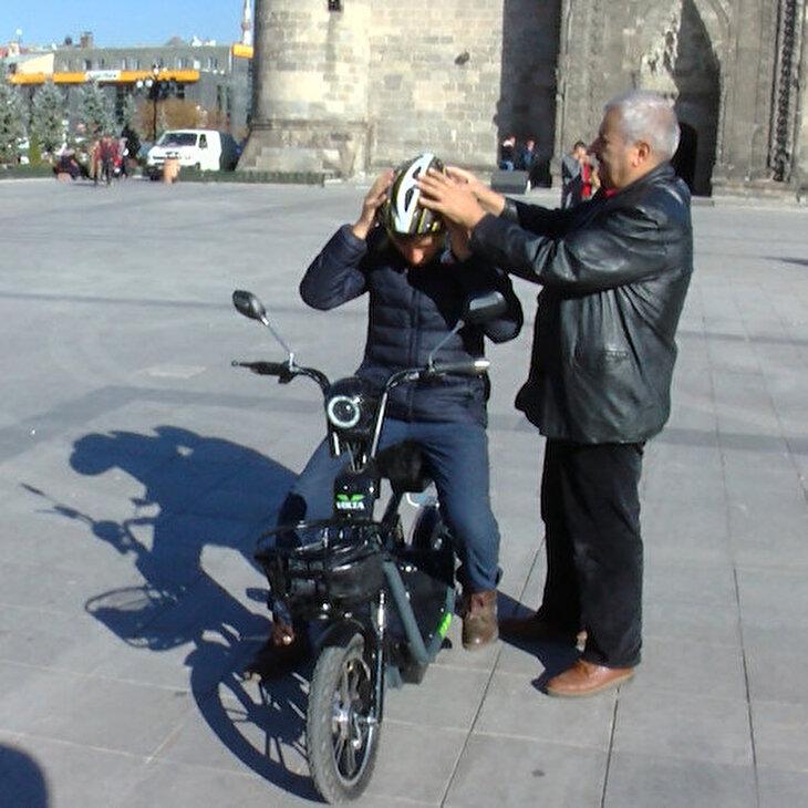 'Dadaş mucit' kasksız çalışmayan motosiklet geliştirdi