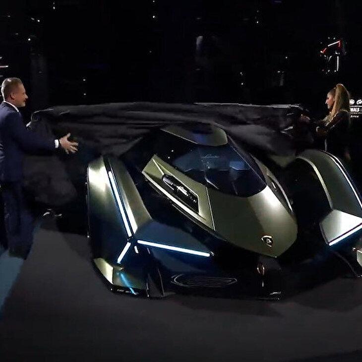 Oyun için tasarlanan 'Lamborghini Lambo V12 Vision Gran Turismo' tanıtıldı
