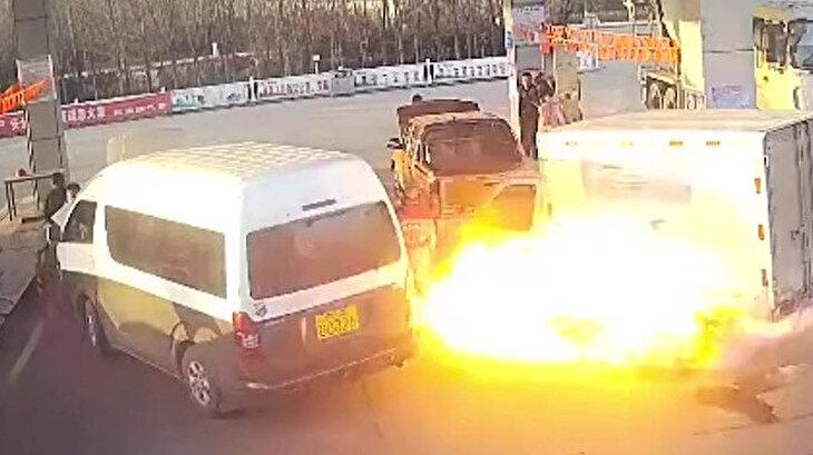 Petrol ofisinin havaya uçmasını saniyelerle engelleyen elemanlar