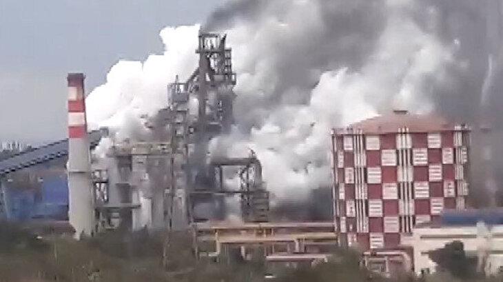 İskenderun'daki demir çelik fabrikasında korkutan patlama