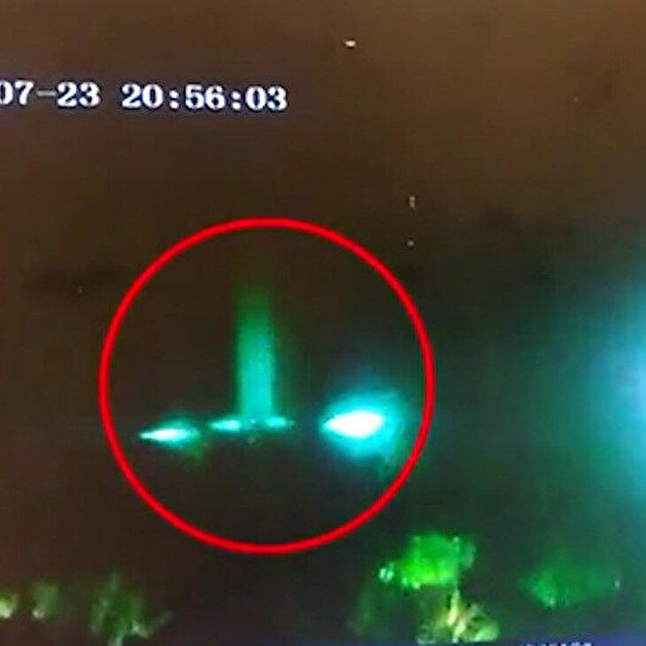 UFO gördüğünü söyleyen bekçi o anları paylaştı