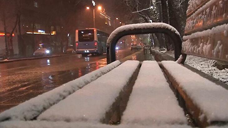 Mart ayında Ankara beyaza büründü