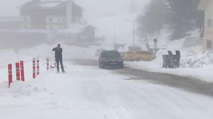 Uludağ'da kar var tatilci yok