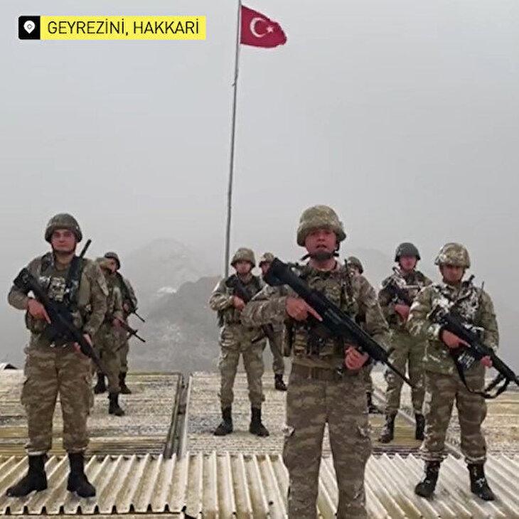Türkiye hudutlarını koruyan komandolardan sağlıkçılara teşekkür