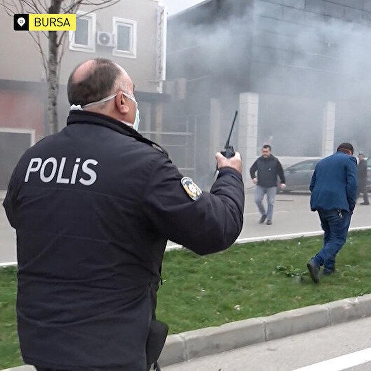 Bursa polisi: Yangın söner ama virüs sönmüyor