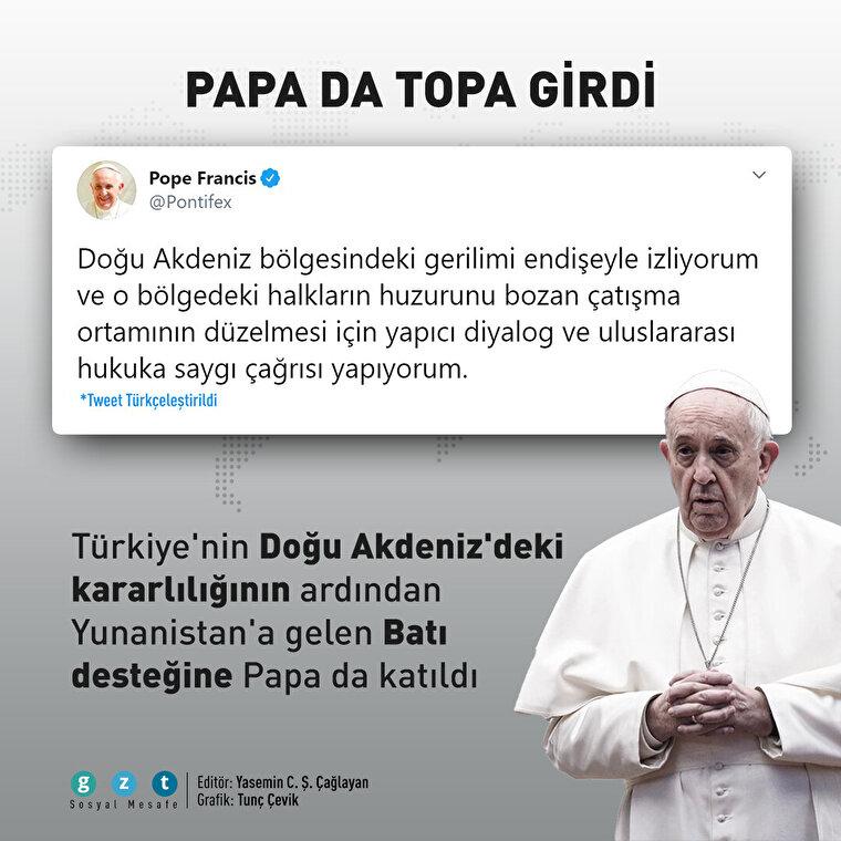 Doğu Akdeniz Papa Francis'in de gündeminde