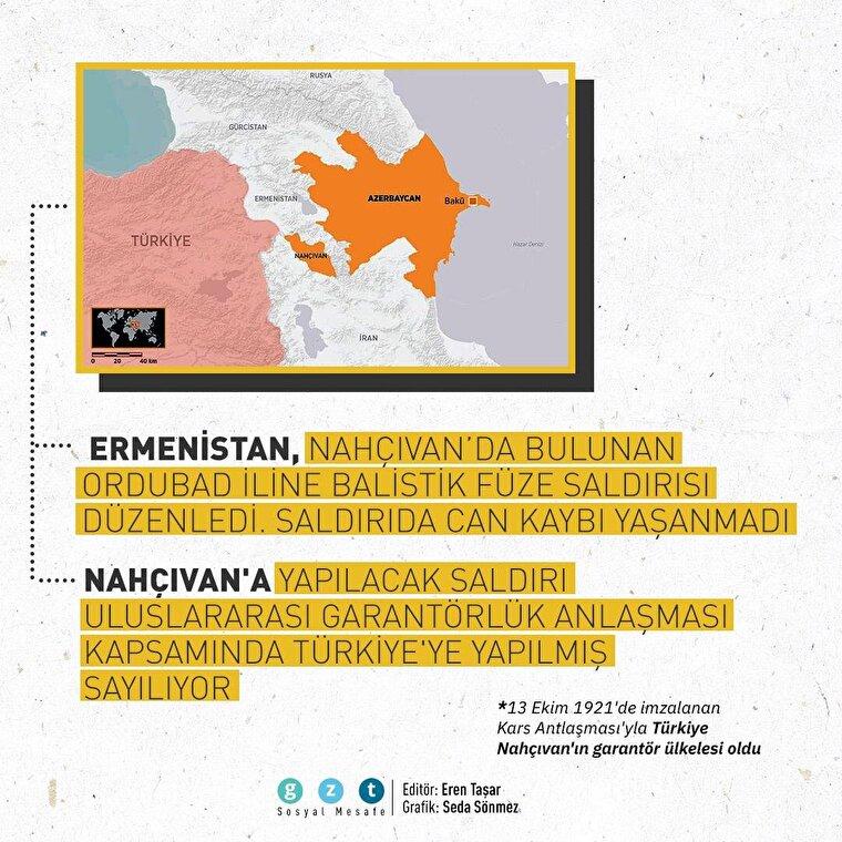 Ermenistan'ın Nahçıvan'a saldırısı garantör ülke Türkiye'ye yapılmış sayılıyor