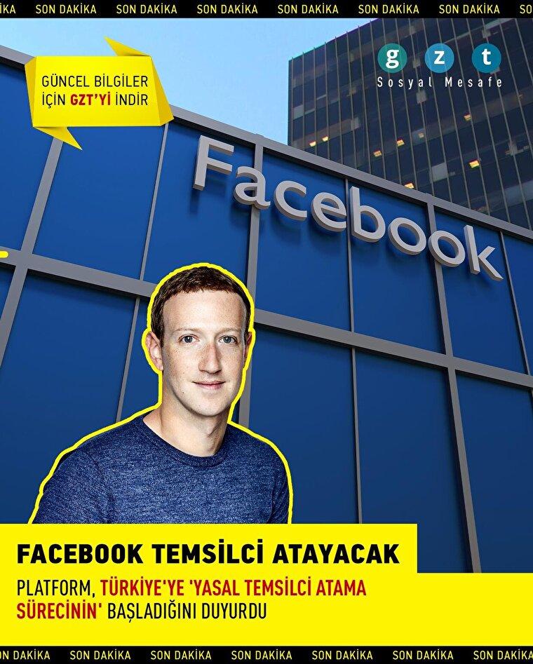 Facebook temsilci atayacak