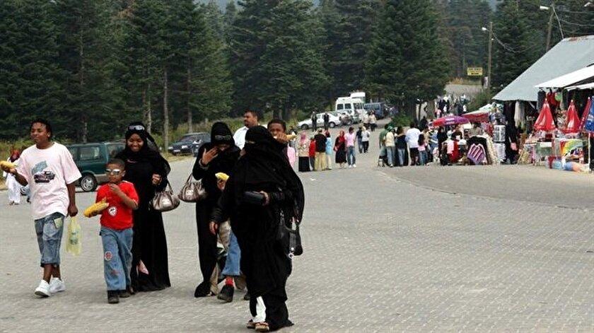 Arap turistler, ilkbahar aylarında Karadeniz Bölgesi'ne yaptıkları rezervasyonlarını ağustos ayı itibarıyla yeniden Bursa'ya yöneltti.