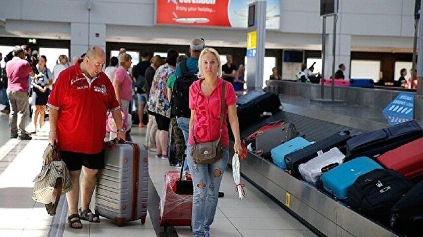 Geçen ay Rusya'dan Antalya'ya gelen yolcu sayısı 2016'nın aynı ayına göre yüzde 816 arttı.