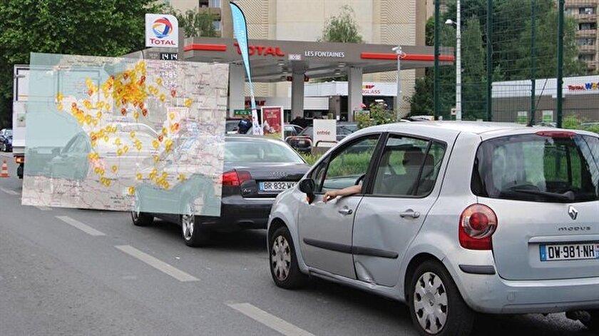 Fransada grev nedeniyle istasyonlar yakıtsız kaldı
