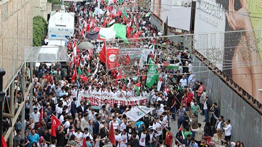 Mavi Marmaranın 7.yılında Özgür Kudüs Yürüyüşü