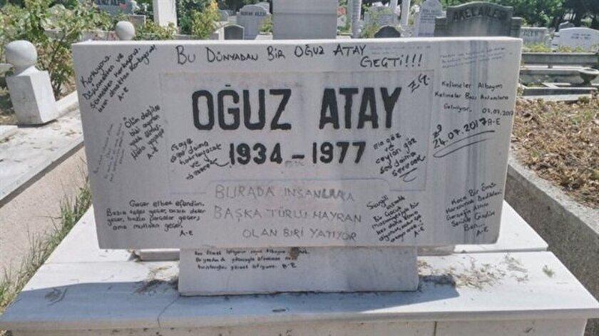 Oğuz Atayın kirletilen mezarı temizlendi