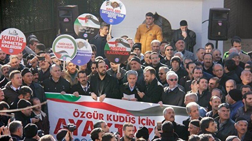 Kudüs ile ilgili skandal karar sonrası, vatandaşlar sokağa döküldü.