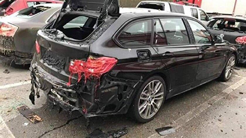 Avusturya'da meydana gelen patlamada, araçların bile eridiği görüldü. Fotoğraf: AFP