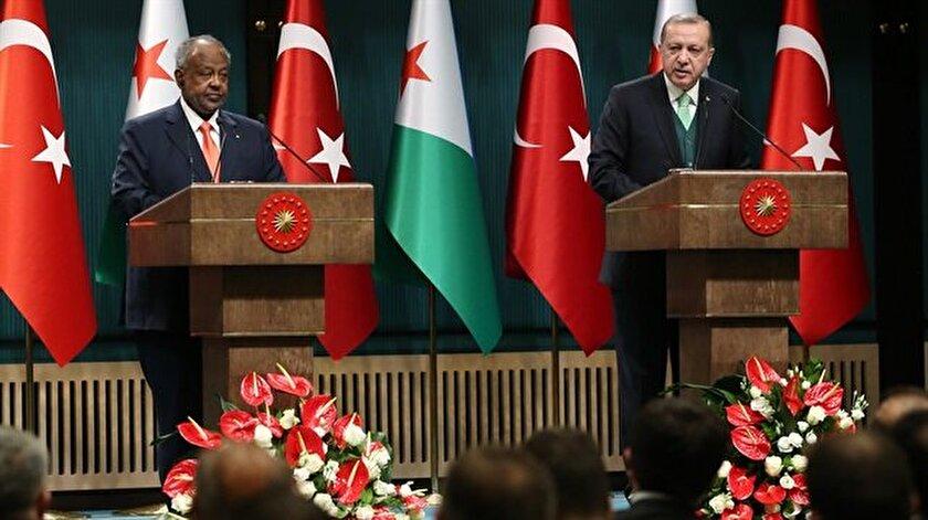 Cumhurbaşkanı Erdoğan, Cibuti Cumhurbaşkanı Guelleh ile ortak basın açıklaması yaptı.