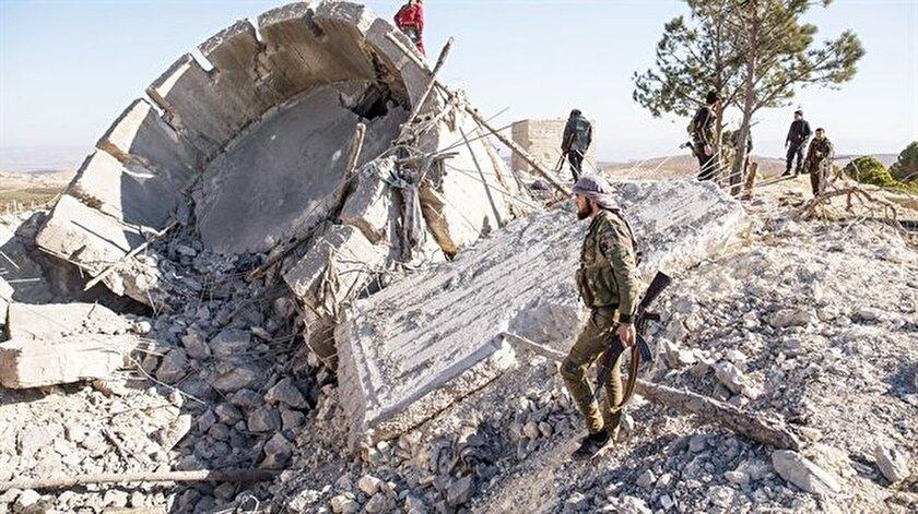 PKK'lı teröristler, Afrin'deki yeraltı şehirlerini Fransız Lafarge firmasının verdiği  çimentoyla inşa ediyor.