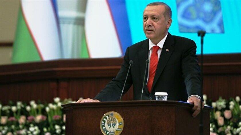 Cumhurbaşkanı Recep Tayyip Erdoğan, Özbekistan Parlamentosunda hitap etti.