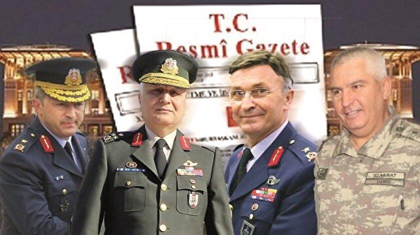 General ve amiral atamaları dün Resmi Gazete'de yayımlandı.