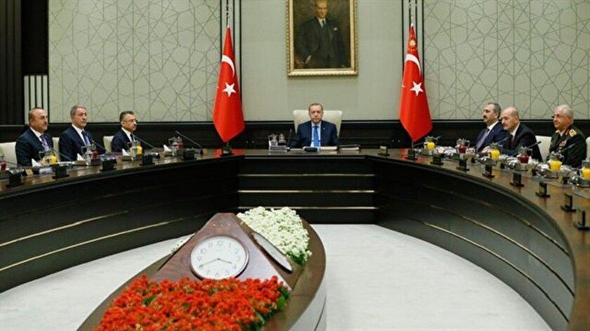 MGK, Cumhurbaşkanlığı Külliyesinde toplandı.