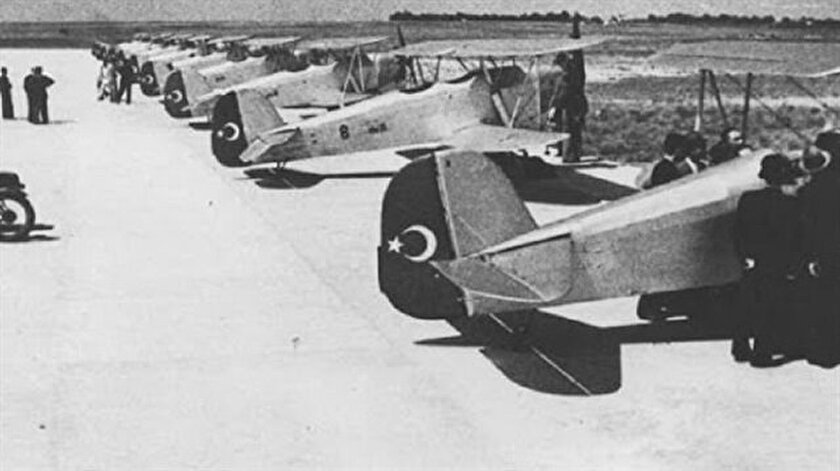 Kayseri'de kurulan uçak fabrikasında üretilen uçaklar.