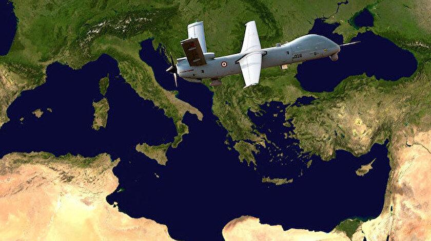 Türk Hava Kuvvetleri envanterindeki ANKA'ların Doğu Akdeniz ve Ege'de sürekli gözetim yaptığı öğrenildi.