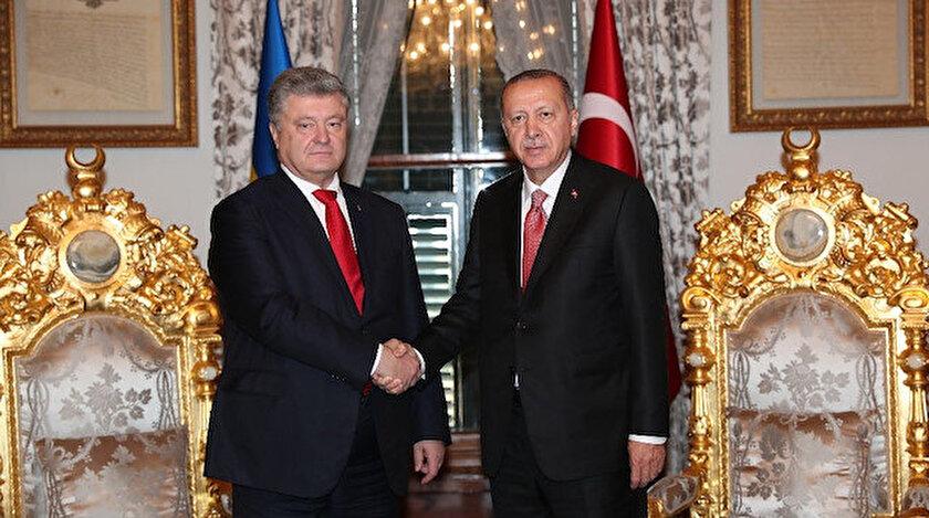 Cumhurbaşkanı Erdoğan Ukrayna Devlet Başkanı Poroşenkoyu kabul etti