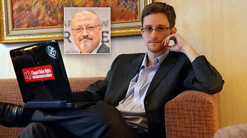 Snowdendan Kaşıkçı iddiası: Takip için İsrailin casus yazılımı kullanıldı