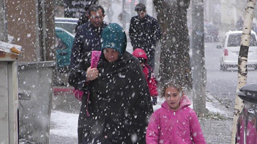 Ardahan'da kar yağışı etkisini gösterdi.