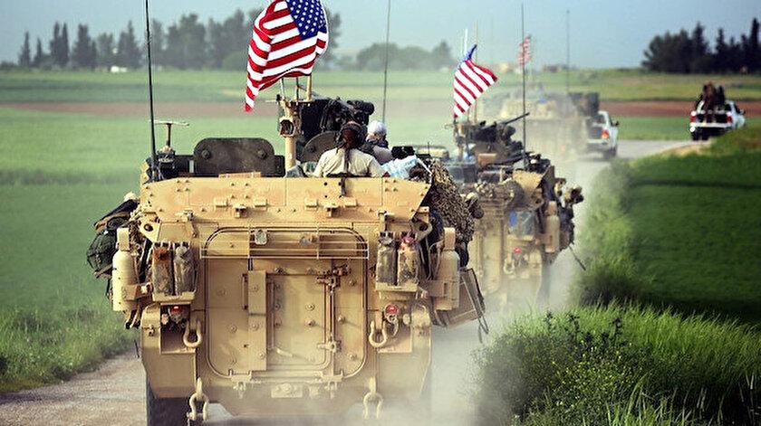 ABD'nin YPG'li teröristlerin elindeki alana yaptığı askeri sevkiyat.