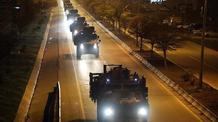 Sevkiyatta 100'e yakın askeri araç yer aldı.