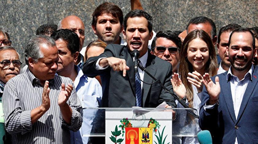 ABD'nin destek verdiği Venezuela Ulusal Meclis Başkanı Juan Guaido
