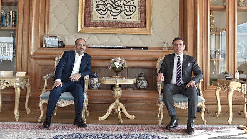 CHP'nin İstanbul Büyükşehir Belediye Başkan Adayı Ekrem İmamoğlu ile Albayrak Grubu Yönetim Kurulu üyesi Nuri Albayrak