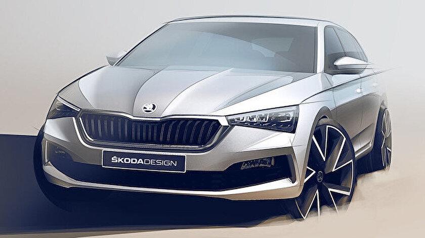 Skoda Scala'nın tasarımı.