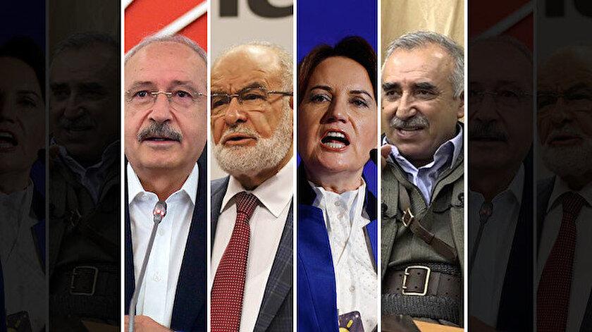 Kemal Kılıçdaroğlu, Temel Karamollaoğlu, Meral Akşener ve Murat Karayılan