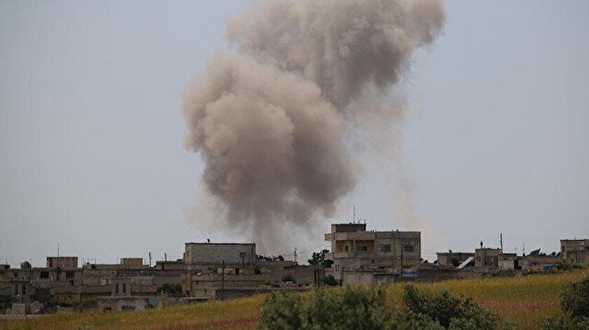 Sivil yerleşimlere devam eden yoğun hava ve kara saldırılarında 7 sivil öldü.