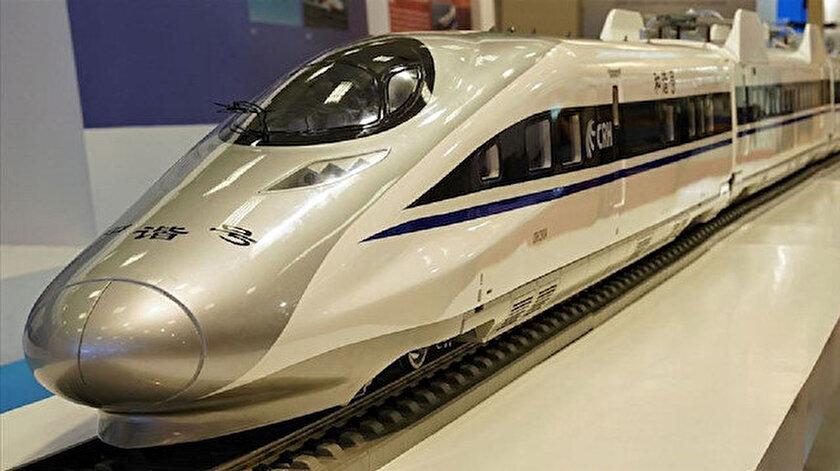 Çin'in maglev treninin prototipi