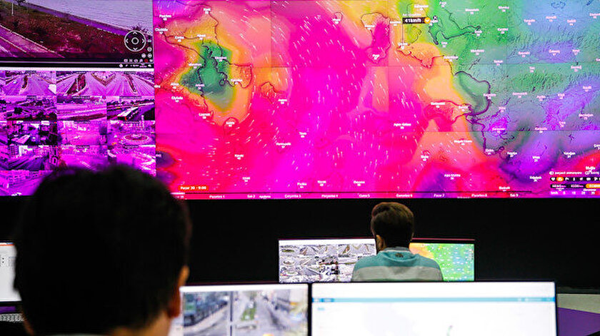 Hava durumuna ilişkin anlık veriler, ilgili merkezlerden uzmanlarca takip ediliyor.