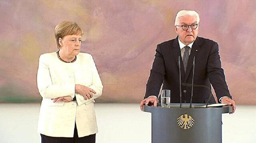 Almanya Başbakanı Angela Merkel titredi