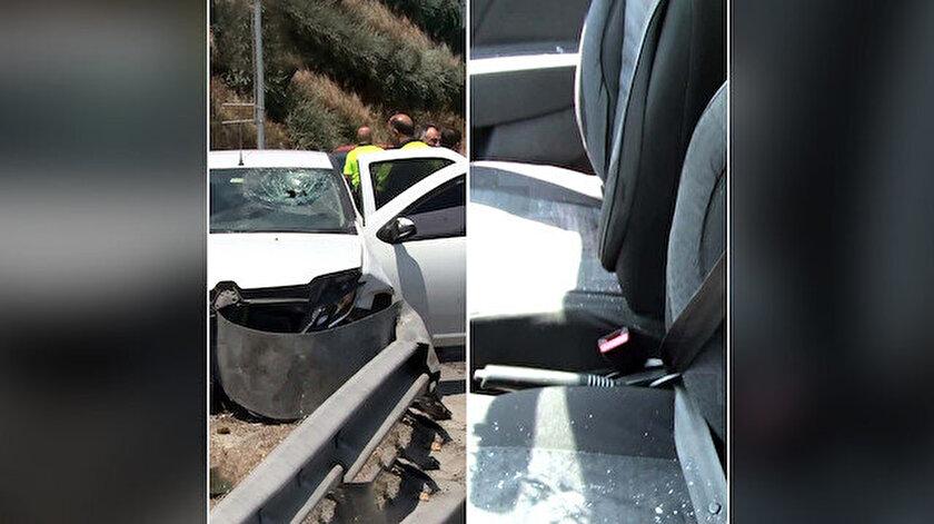 Emniyet kemerini arkadan takan sürücü kazada ağır yaralandı.