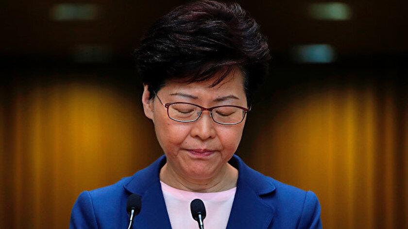 Çin'in Hong Kong Özel İdari Bölgesi Baş Yöneticisi Carrie Lam.