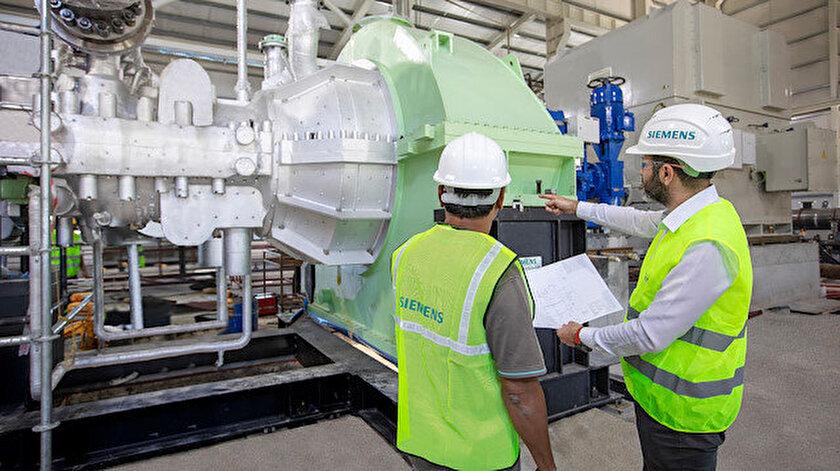 Enerji santralinin içinden bir fotoğraf.