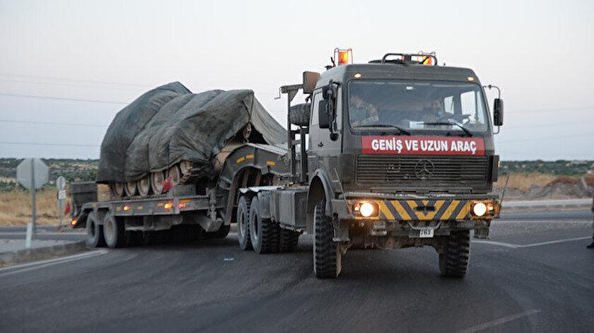 Suriye sınırına askeri sevkiyat gerçekleştirildi.