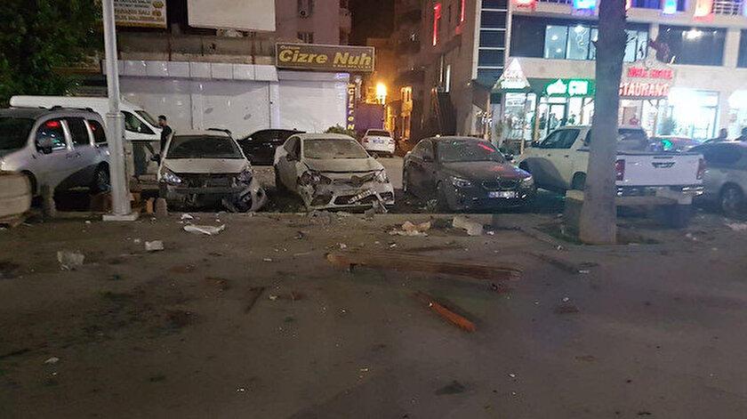 Cizre'de güvenlik güçlerine yönelik el yapımı patlayıcı ile saldırı düzenlendi.