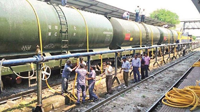 50 vagonluk trenle su sevkiyatı yapıldı.