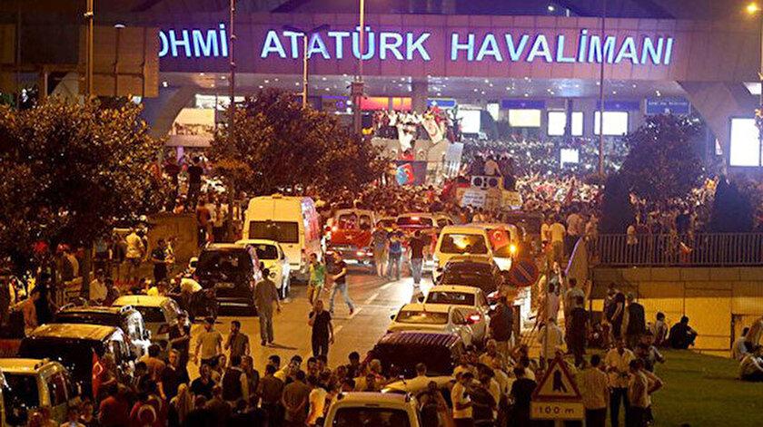 15 Temmuz gecesi Atatürk Havalimanı'ndan bir kare.