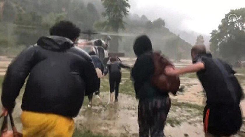 Düzce'de mahsur kalan 21 kişi kurtarıldı