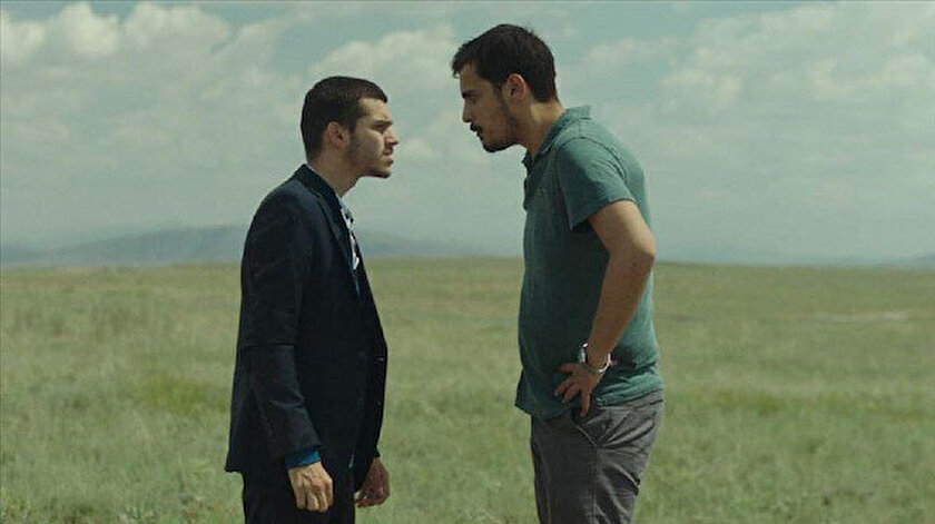 Film oyuncuları Yiğit Ege Yazar ile Caner Şahin