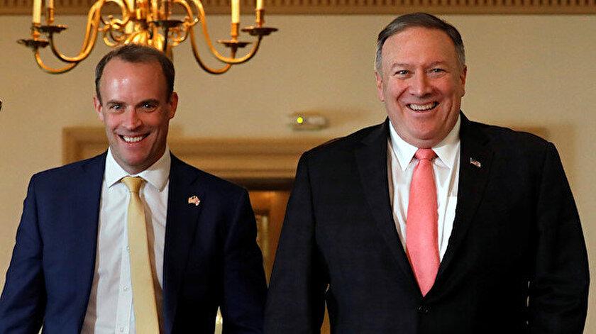 ABD Dışişleri Bakanı Mike Pompeo ve İngiltere Dışişleri Bakanı Dominic Raab.